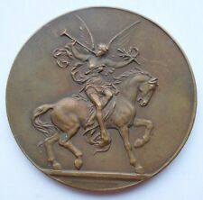 1931 HORSE RACE CONTEST PRIZE for BELGIAN WW1 VETERANS SOLDIERS ART MEDAL