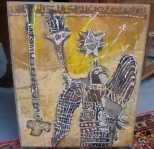 AGNES SIMS MID-CENTURY MODERNISM SYMBOLIC FIGURAL PAINTING ENCAUSTIC ON CANVAS