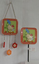 HELLO KITTY GARDEN SIGN & STAKE SET NICE GIFT FREE USA SHIPPING