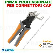 PINZA PROFESSIONALE PER CONNETTORI CAP,ART. PROCAP TELECOM SECURITY,HIGH QUALITY