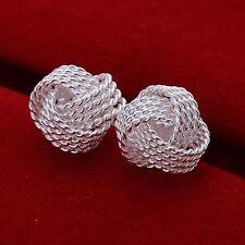 Neu Des Mädchens der Frauen aus Silber Modeschmuck Mesh-Kugelgelenk-Ohrringe