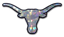 Texas Longhorns Silver Reflective Domed Auto Decal [NEW] NCAA Emblem Car