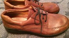 Mens ECCO Brown Leather Casual Oxfords sz 47