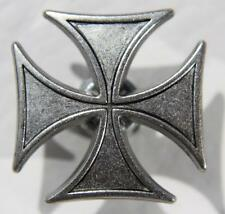 Biker Chopper Iron Cross Black Snap Button Eisernes Kreuz Druckknopf Knopf NEU