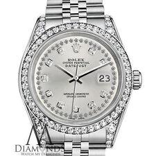 Ladies Rolex 26mm Datejust Silver diamond string dial Jubilee Bracelet Watch