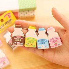 Nettes Milchflaschen-Karikatur-Radiergummi-Briefpapier Kinder-Geschenk-Spielzeug