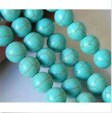 "6mm Turquoise Gemstone Round Loose Beads 15"" Strand"