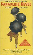 Volantino Parapluie-Revel Lyon Ombrelli di Leonetto Cappiello 1922 Litografia