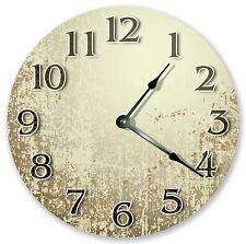"""10.5"""" WHITE RUSTIC CLOCK - Large 10.5"""" Wall Clock - Home Décor Clock - 3192"""