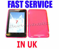 For Asus Google Nexus 7 Tablet S Line Pattern Gel Case Cover Protector Pink