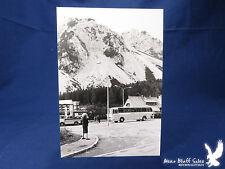 Vintage Vacation Photo Olson's Royal Coach Tour BIG BUS Mountains Chalet