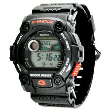 Casio Men's G-Shock Black Red Accents Alarms Moon Tides 200M Watch G7900A-1