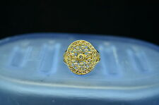 GOLD PLATED 925 STERLING SILVER OVAL DESIGN CUBIC ZIRCONIA RING SIZE 5.75 #B2705