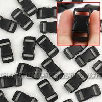 50x Black Plastic Side Release 29*15mm Buckles Paracord Bracelet Belt Strap DIY