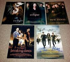 "TWILIGHT SET OF 5 PP SIGNED 12""X8"" POSTER ROBERT PATTINSON KRISTEN STEWART"