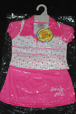 Bebe Tiggles, Girl, 2 piece, Summer, Tennis, Party, Skirt Outfit, size 12 months
