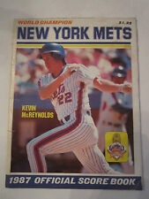 1987 NEW YORK METS WORLD CHAMPION OFFICIAL SCORE BOOK - GOOD CONDIT. -  TUB Q