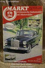 Oldtimer Markt 8/86 MB Heckflosse Fiat 850 Spider