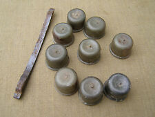 Original German WWII k98 Rifle Muzzle Caps (Set of 9) & Hardware