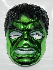 RARE THE INCREDIBLE HULK CHROME PLASTIC CHILDREN MASK MADE IN MEXICO