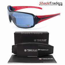 TAG Heuer RACER USA WATERSPORT SUNGLASSES BLACK RED POLARIZED BLUE GREY 9201 409