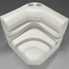 "Premium 28"" Corner Pontoon Boat Seats Ivory, Tan and Beige"