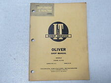 OLIVER 44 440 Tractor SHOP Service MANUAL O-12 1961
