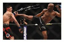 ANDERSON SILVA AUTOGRAPHED SIGNED A4 PP POSTER PHOTO