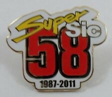 *NEW* Marco Simoncelli enamel badge.Super Sic,58,Moto GP.