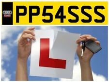 DRIVING INSTRUCTOR INSTRUCTOR'S LEARNER TEST CAR PASS TEST PRIVATE NUMBER PLATE
