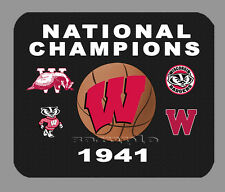 Item#1787 Wisconsin Badgers Championship Basketball Banner Mouse Pad