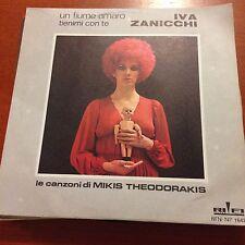 """Iva Zanicchi-Un Fiume Amaro Tienimi Con Te-7"""" 45-Vinyl Record-Pic Sleeve"""