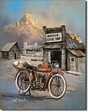 Navajo Indian Motorcycle Shop USA Motorrad Vintage Design Metall Schild