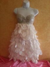 SAMPLE/Petal Bridal Wedding 2Pc Backless Babydoll Tutu Mini Dress Skirt Set