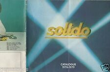 CATALOGUE SOLIDO 1978-1979 COMPETITION TOURISME TONERGAM MILITAIRE AGE D'OR c