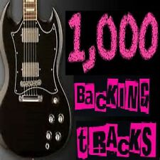 1000 PRO POP ROCK GUITAR BACKING TRACKS , JAM TRACKS + GUITAR TABS + MORE