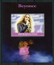 Chad 2017 CTO Beyonce 1v M/S Music Pop Stars Celebrities Stamps