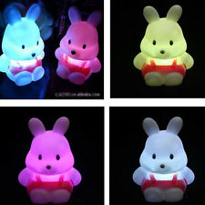 Mini LED Change Night Cartoon Rabbit Light Lamp For Baby Kid Room Decorating