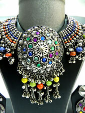 Afghan Kuchi Tribal Necklace Belly Dance Vintage Jewelry Ethnic Gypsy Statement