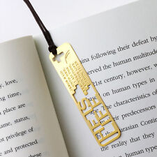 He is our LIFE - Christian Bible 18k gp Bookmark with leather string for gift
