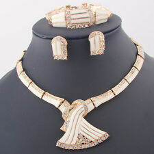 Fashion Women Wedding 18K Gold Plated African Jewelry Sets Necklace Earrings Set