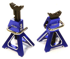 Integy 3 Ton TOY Jack Stands 1/10-1/8 Rock Crawlers Blue (2) C26410BLUE