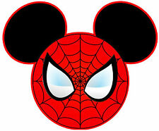 DISNEY MICKEY MOUSE SPIDERMAN PERSONALIZED SHIRT IRON ON CUSTOMIZED TRANSFER 057