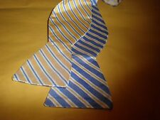 COUNTESS MARA REVERSIBLE YELLOW/BLUE PACK BOW TIE NEW WITH TAG