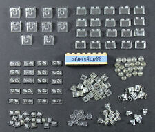 LEGO - Assorted Lot 130+ Translucent Clear Pieces Plates Tiles Bricks Trans Bulk