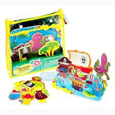 Meadow Kids Bath Time Treasure Island Floating Activity Scene with Storage Bag T