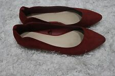 Forever 21 Womens Burgundy/Red Flat Shoes Worn, in Decent Condition Size US 8