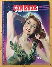 ►RITA HAYWORTH  COVER FRENCH MAGAZINE JUNE 1947
