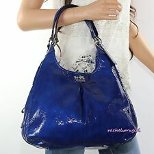NWT Coach Madison Patent Leather Maggie Shoulder Bag 21238 Ultramarine Blue RARE