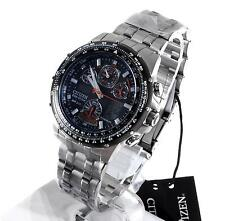 Citizen Eco-Drive Skyhawk Mens GMT Titanium Atomic Solar Alarm Watch JY0010-50E